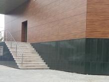Ступени, облицованные уральским гранитом